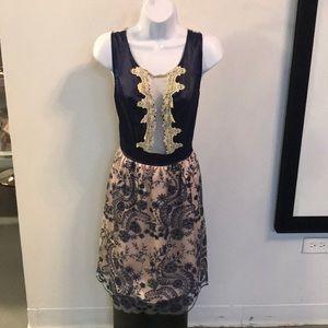 Dresses & Skirts - Mesh deep v neck dress
